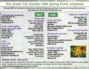Spring Event Schedule